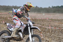 Motocross driver Stock Photo