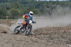 Motocross driver Royalty Free Stock Images