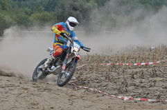 Motocross driver Royalty Free Stock Photography