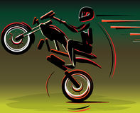 Motocross drivers silhouette. Motorbike motorcycle. Motorcycle racer sport. royalty free illustration