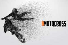 Motocross drivers silhouette. Vector illustration Royalty Free Stock Photography