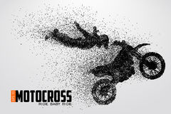Motocross drivers silhouette. Vector illustration Royalty Free Stock Image