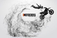 Motocross drivers silhouette. Vector illustration Stock Photos