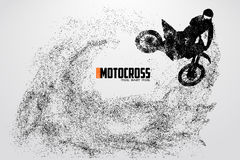 Motocross drivers silhouette. Vector illustration Stock Image