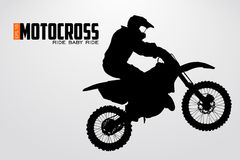 Motocross drivers silhouette. Vector illustration Royalty Free Stock Images