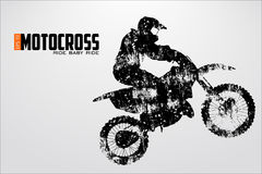 Motocross drivers silhouette. Vector illustration royalty free illustration