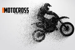 Motocross drivers silhouette. Vector illustration Stock Photo