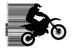 Motocross drivers silhouette. Vector illustration Stock Images