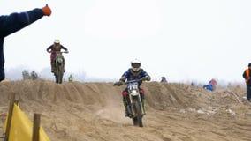 motocross Droga ściga się na enduro rowerach swobodny ruch zdjęcie wideo
