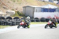 Motocross dzieci rowerzyści Fotografia Stock