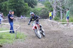 Motocross in El Berron, Asturias, spain. Royalty Free Stock Image