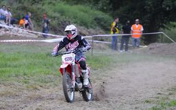 Motocross in El Berron, Asturias, spain. Stock Images