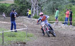 Motocross in El Berron, Asturias, spain. Stock Photo