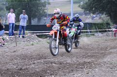 Motocross in El Berron, Asturias, spain. Stock Photos