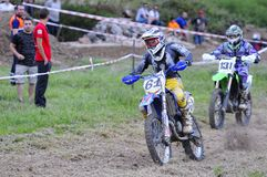 Motocross in El Berron, Asturias, spain. Royalty Free Stock Image