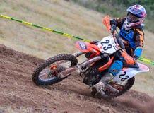 Motocross em Sariego, Espanha Foto de Stock