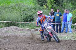 Motocross en EL Berron, Asturies, Espagne Photo libre de droits