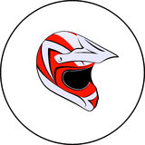 Motocross enduro atv helmet Stock Photos
