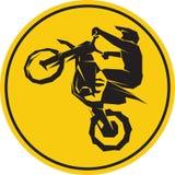 Motocross enduro background. Vector illustration Royalty Free Stock Photos