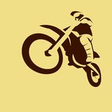 Motocross enduro racer Stock Photos