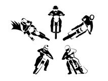 Motocross enduro set royalty free illustration