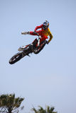 Motocross Event Tricks. Taken on 5/11/12 in Venice Beach, California Red Bull X-Fighters freestyle event Stock Photos