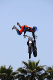 Motocross Event Tricks. Taken on 5/11/12 in Venice Beach, California Red Bullx-Fighters freestyle event Stock Images
