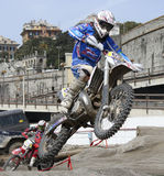 Motocross exhibition. Exhibition of motocross during Spring Fair 2010 in Genoa (Italy Stock Photography