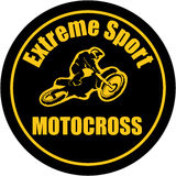 Motocross extreme sport background. Motocross enduro background. Silhouette of a man who rides on a motorbike . Vector illustration Stock Image