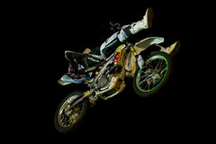 Motocross Freestyle Air Contest Royalty Free Stock Images