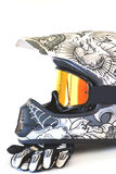 Motocross Helmet Stock Photo
