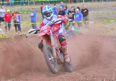 Motocross i Sariego, Spanien Royaltyfri Foto