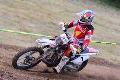 Motocross i Sariego, Spanien Fotografering för Bildbyråer