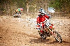 Motocross i Thailand Royaltyfri Foto