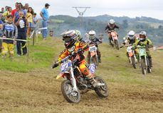 Motocross i Valdesoto, Asturias, Spanien Royaltyfria Foton