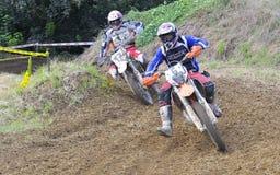 Motocross i Valdesoto, Asturias, Spanien Royaltyfri Fotografi