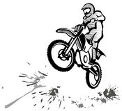 Motocross illustration Stock Photo