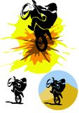 Motocross illustration Royalty Free Stock Image