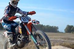 Motocross Italia Sardegna. First test of moto in sardinia, Cirras stock photography