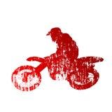 Motocross jeździec ilustracja wektor