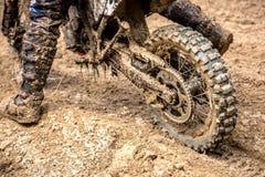 Motocross jeździec na rasie Zdjęcia Stock