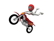 Motocross jump Royalty Free Stock Photo