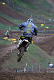 Motocross-jump. Stock Photography