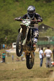 Motocross-jump. Stock Photos