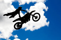 Motocross jump Stock Photo