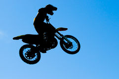 Motocross jump Stock Image
