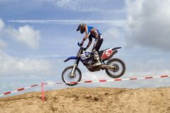 Motocross Jump. Landing after a big Jump Stock Photos