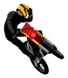 Motocross jump graffiti style isolated vector illustration. FMX freestyle motocross jump trick whip graffiti style isolated vector illustration Royalty Free Stock Photo