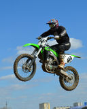 Motocross: jump to the sky stock images