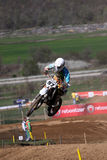 Motocross-Jump.World en Europese Motocross Champi Stock Foto